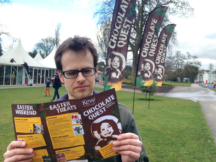 Kew_Chocolate_Quest_flags_ programme_Ocky_Murray