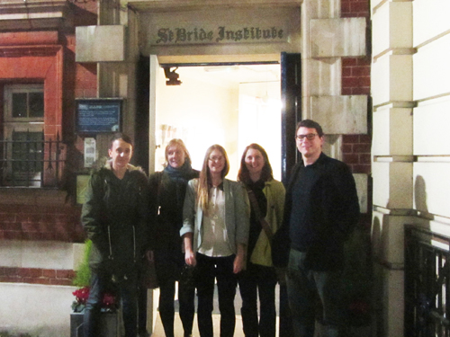 The Cog team outside the St Bride Foundation