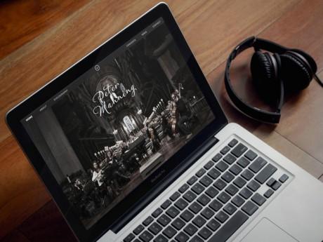Peter Manning website on Laptop