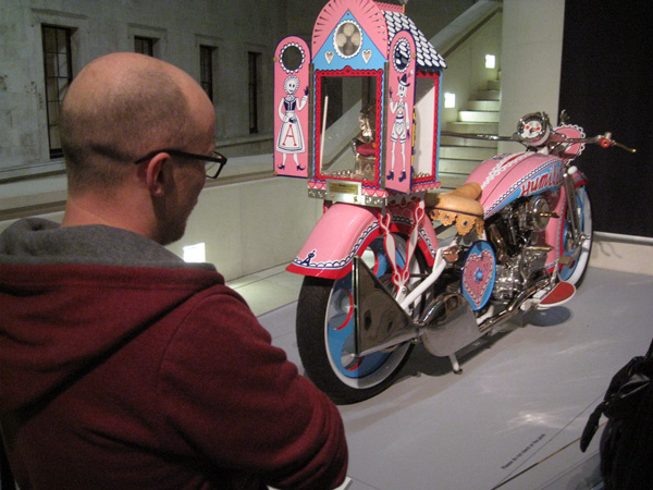 Grayson_Perry_motorbike_at_British_Museum