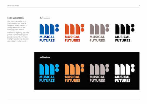 Musical Futures brand guidelines