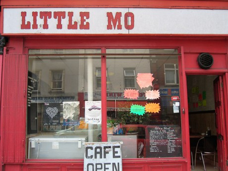 Little Mo's cafe on Deptford High Street, reputedly run by Gary Oldman's sister.