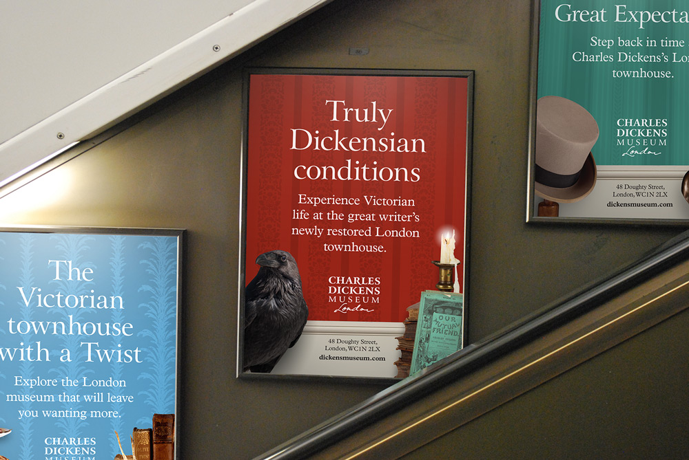 Dickens_Museum_escalator_posters