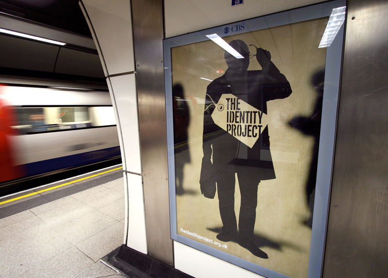 One of our teaser-campaign posters at London Bridge station
