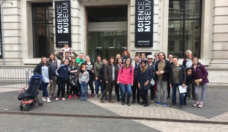 First stop outside the Science Museum