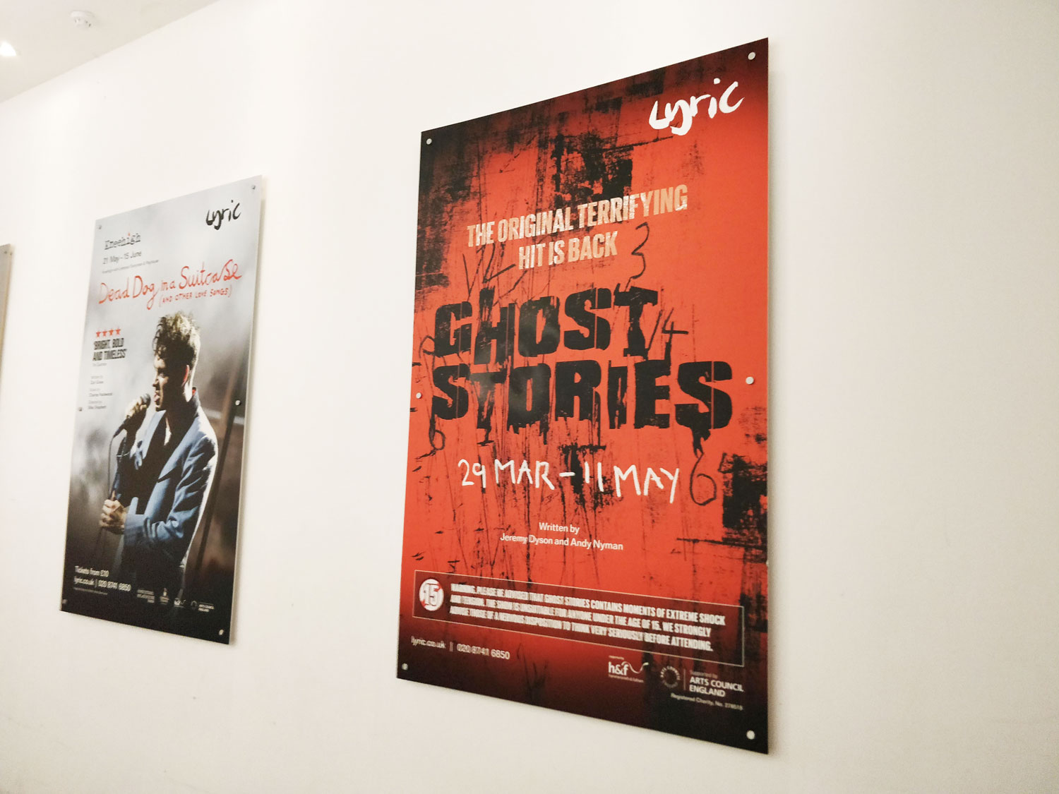 Ghost Stories poster we designed